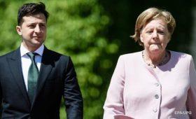 Названы темы разговора Зеленского с Меркель