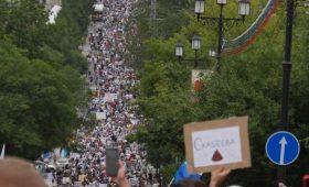 В Хабаровске масштабный митинг: Путина в отставку